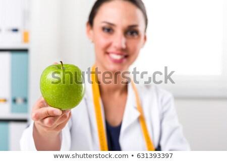 счастливым · здорового · врач · зеленый · яблоко - Сток-фото © ichiosea