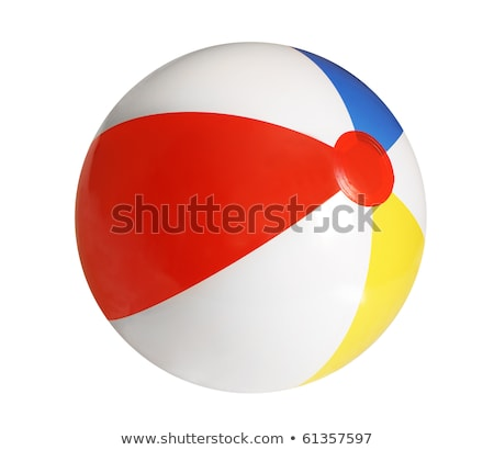 Beach Ball Floating in Pool Stock photo © saje