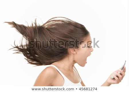 сердиться молодые азиатских женщину мобильного телефона Сток-фото © bmonteny