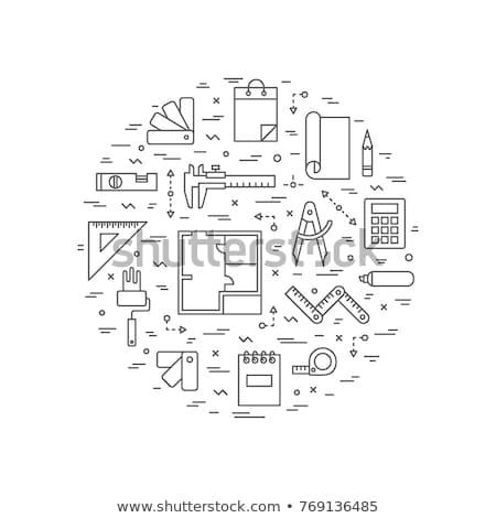 Interior Designer Flyer Stock photo © rioillustrator