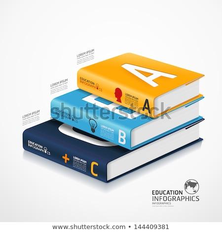 címke · könyv · infografika · illusztráció · oktatás · üzlet - stock fotó © auimeesri