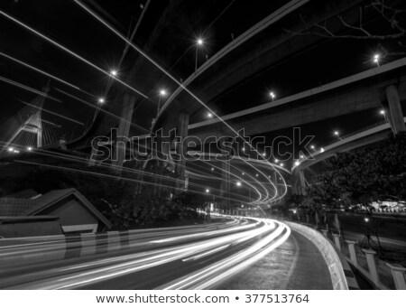 Trafik ışıkları hareketli sokak ad gökyüzü Stok fotoğraf © meinzahn