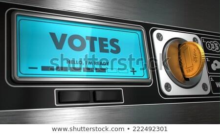 Display automaat opschrift machine munt concept Stockfoto © tashatuvango