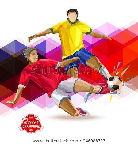 シルエット · サッカー · プレーヤー · セット · 異なる · スポーツ - ストックフォト © leonido