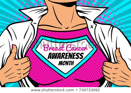 woman in superwoman pink costume superhero stock photo © lordalea