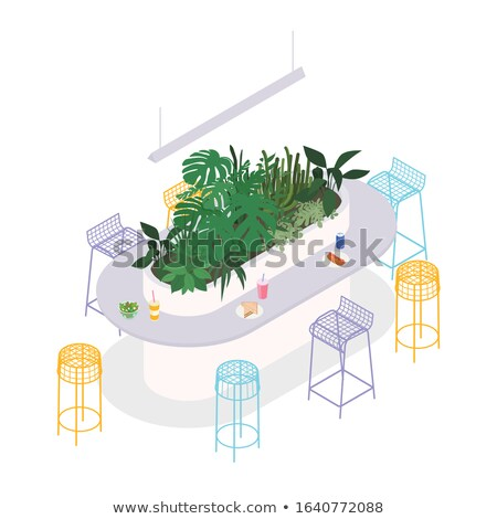 Stock photo: Happy Hours on Turquoise in Flat Design.
