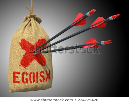 Greed - Arrows Hit in Red Target. Stock photo © tashatuvango