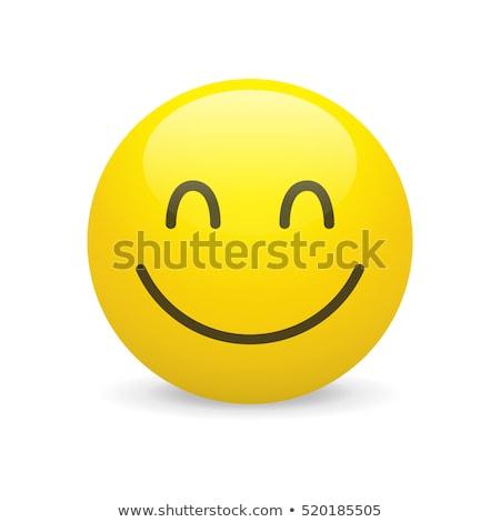 Satisfied smiley stock photo © Norberthos