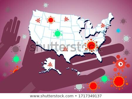Аляска небольшой флаг карта избирательный подход фон Сток-фото © tashatuvango