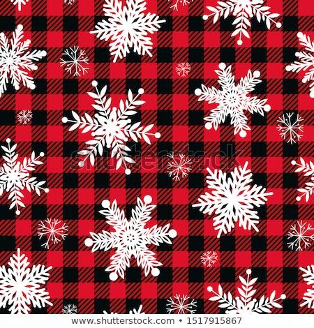 Vector Seamless Pattern with white snowflakes Stock photo © alexmakarova