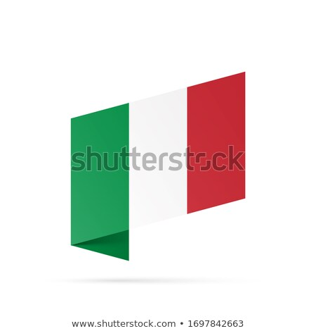 Map on flag button of Italian Republic, Italy stock photo © Istanbul2009