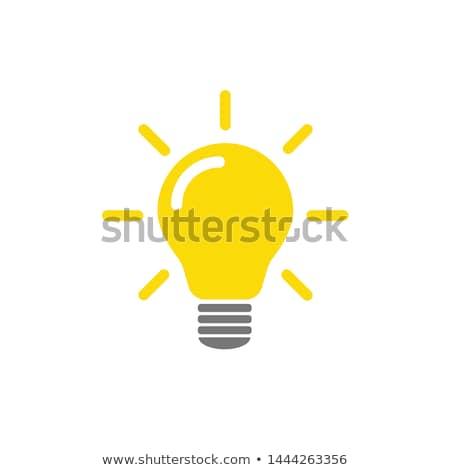 lamp · energie · besparing · tl · bladeren · geïsoleerd - stockfoto © ozaiachin