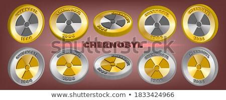 радиоактивный знак вектора икона кнопки Сток-фото © rizwanali3d
