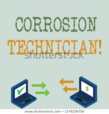 Laptop korrózió öreg rozsda szemét senki Stock fotó © ajfilgud