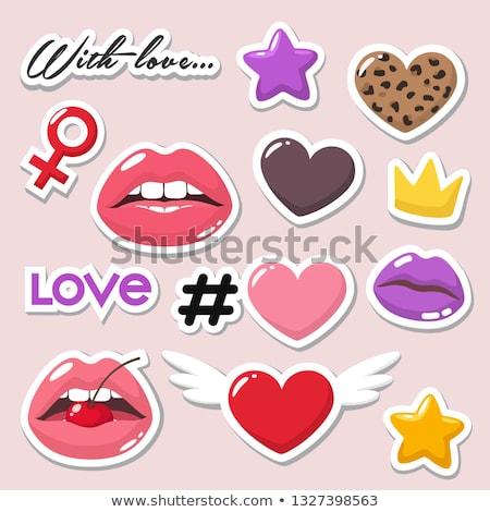 sexy · pop · estrellas · nina · cantando · retro - foto stock © stryjek