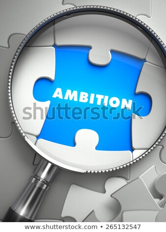 motivatie · vermist · puzzel · stuk · vergrootglas · woord - stockfoto © tashatuvango