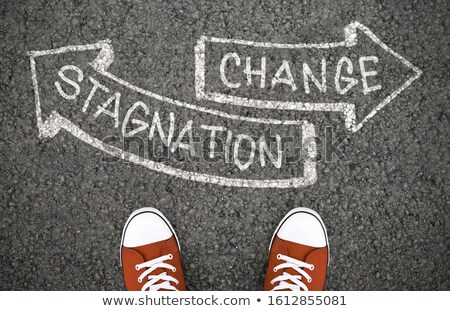 Decision at a crossroad - Change or Stagnation Stock photo © Zerbor