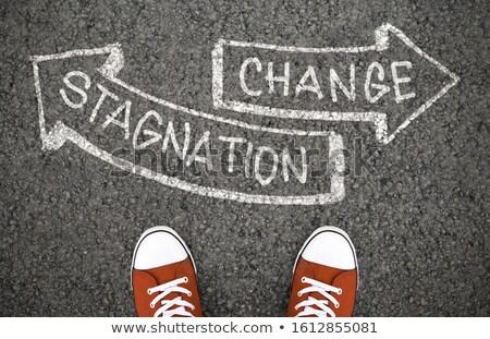 Decyzja zmian drogowego plan cel Zdjęcia stock © Zerbor