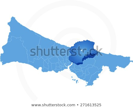 Map of Istanbul with each administrative district where Beykoz i Stock photo © Istanbul2009