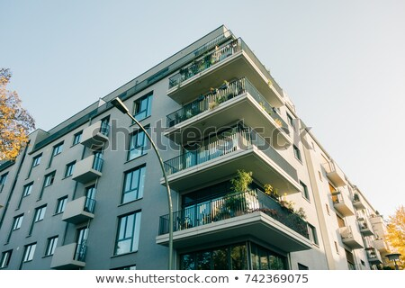 modern blocks of flats in berlin stock photo © elxeneize