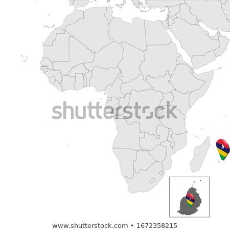 Alto detallado vector mapa Mauricio navegación Foto stock © tkacchuk