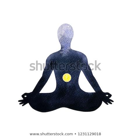 солнечной чакра иллюстрация тело расслабиться энергии Сток-фото © adrenalina