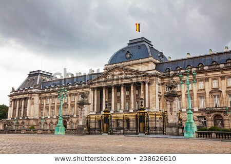 Royal Palace bulding facade in Brussels Stock photo © AndreyKr