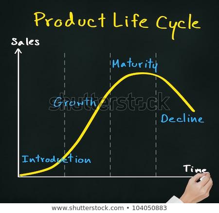 Business man drawing Business life cycle diagram Stock photo © Suriyaphoto