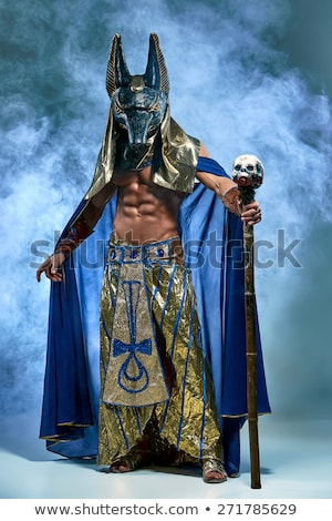 The man in the image of ancient Egyptian Pharaoh with a  mask on his face Stock photo © master1305