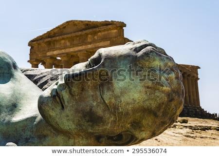 ギリシャ語 · 彫刻 · 古代 · 芸術 · 顔 · 建物 - ストックフォト © ankarb
