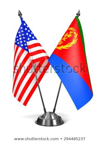 USA and Eritrea - Miniature Flags. Stock photo © tashatuvango