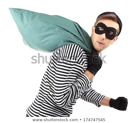 Gangster bolsas dinero blanco hombre bolsa Foto stock © Elnur