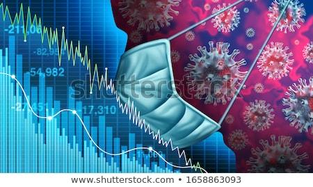 Giełdzie w dół kolumnie niebieski Widok ceny Zdjęcia stock © jamdesign