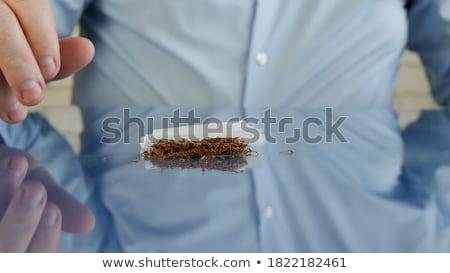 közelkép · aszalt · marihuána · levelek · ízület · befejezés - stock fotó © juniart