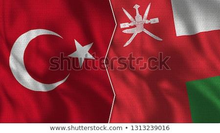 トルコ オマーン フラグ パズル 孤立した 白 ストックフォト © Istanbul2009