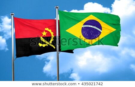 Бразилия Ангола флагами головоломки изолированный белый Сток-фото © Istanbul2009