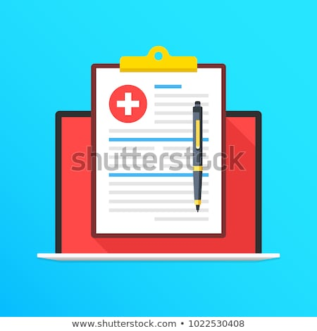 Medical Prescription and Services Icon. Flat Design. Long Shadow Stock photo © WaD