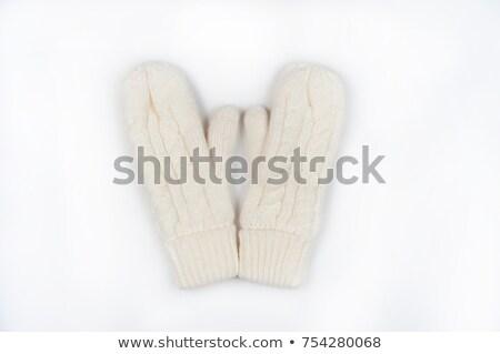 縞模様の · 赤 · 手袋 · 白 · ファッション · 子供 - ストックフォト © ruslanomega