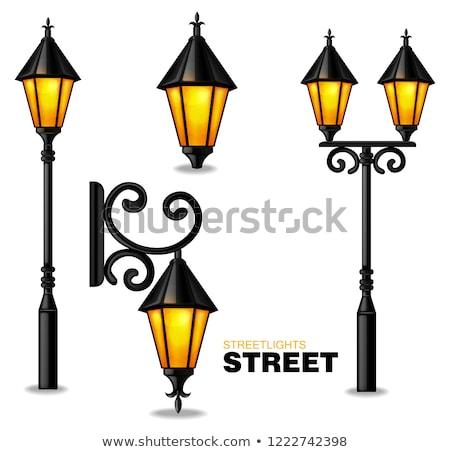 Vintage Street Lamp. Glowing lantern Stock photo © orensila