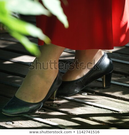 Pé pormenor flamenco dançarina belo vestir Foto stock © nenetus
