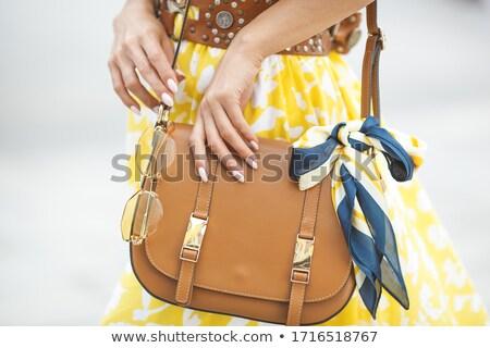 Kadın eller şık nötr manikür tırnak Stok fotoğraf © bezikus