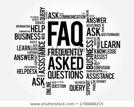часто задаваемые вопросы слово мыши клавиатура детей древесины Сток-фото © fuzzbones0