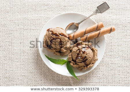 Top view mocha ice cream Stock photo © szefei