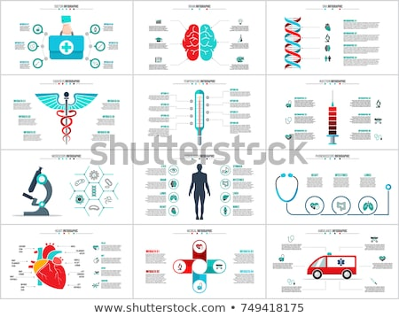 medical infographics Stock photo © netkov1