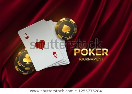 Сток-фото: казино · игорный · жетоны · слово · украшенный · стороны