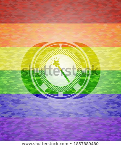 hoop · regenboog · symbool · strijd · coronavirus · blijven - stockfoto © karenr