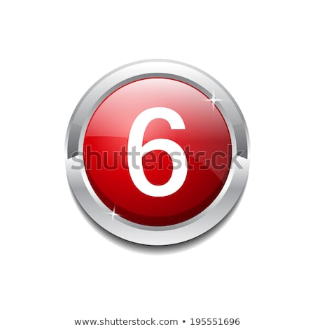 6 number circular vector red web icon button stock photo © rizwanali3d