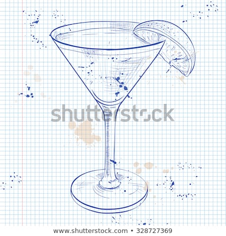 The Bacardi Cocktail on a notebook page Stock photo © netkov1