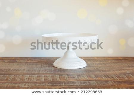 プレート ケーキ 白 ナイフ フォーク 表 ストックフォト © ssuaphoto