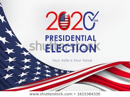 presidencial · eleição · cartaz · desenho · animado · moderno · EUA - foto stock © artisticco